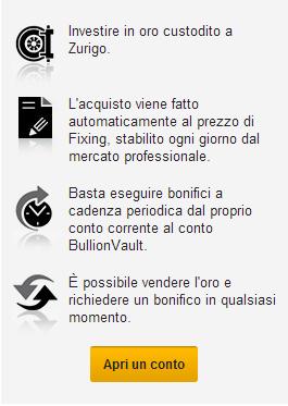 BullionVault Apri Un Conto