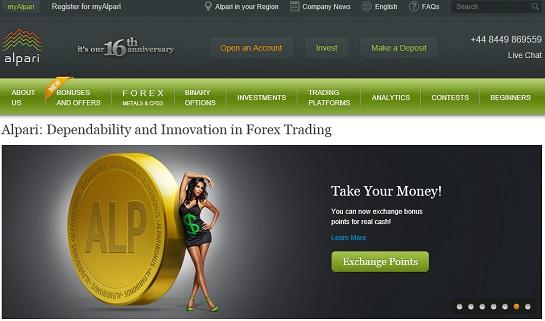 piattaforma trading alpari